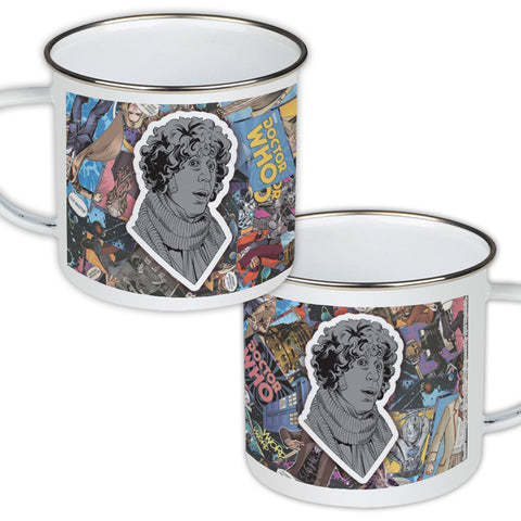 Fourth Doctor Comic Enamel Mug