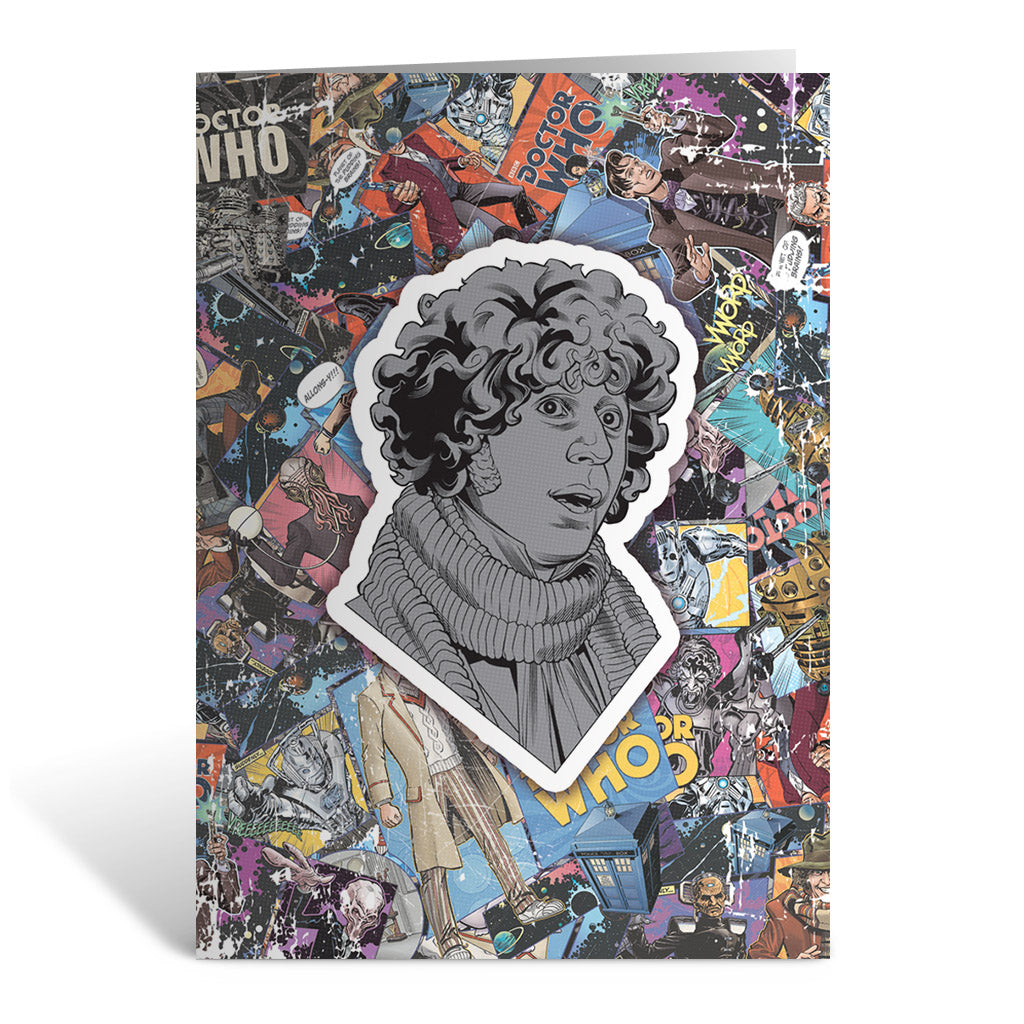 Fourth Doctor Comic Greeting Card