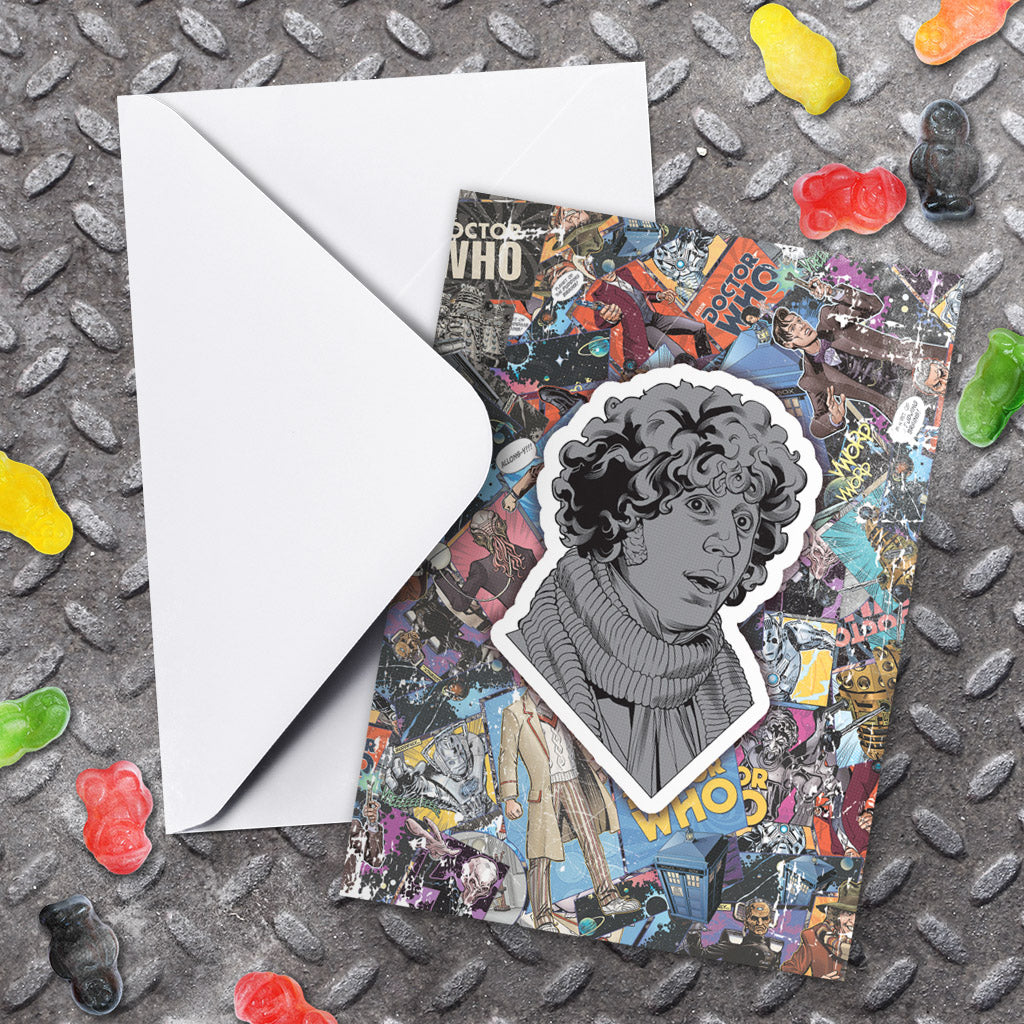 Fourth Doctor Comic Greeting Card (Lifestyle)