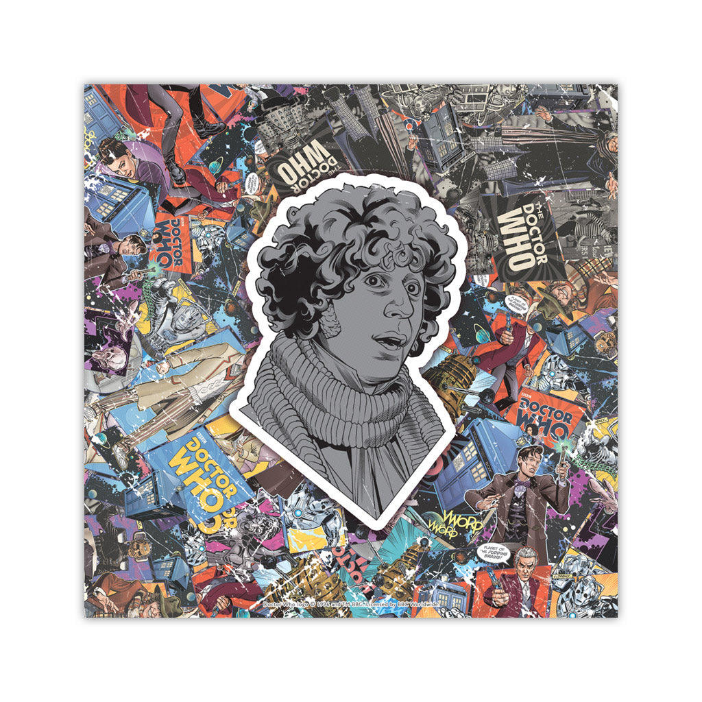Fourth Doctor Comic Square Art Print