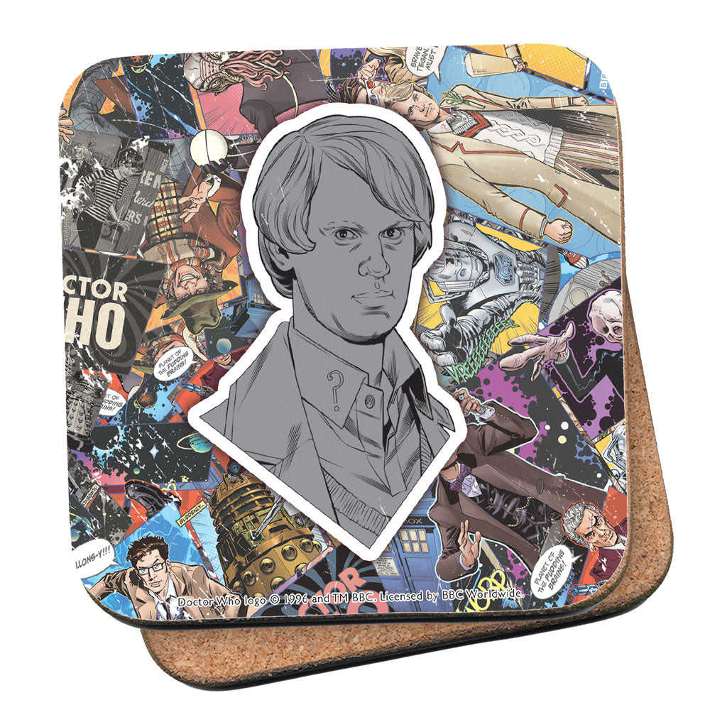 Fifth Doctor Comic Coaster