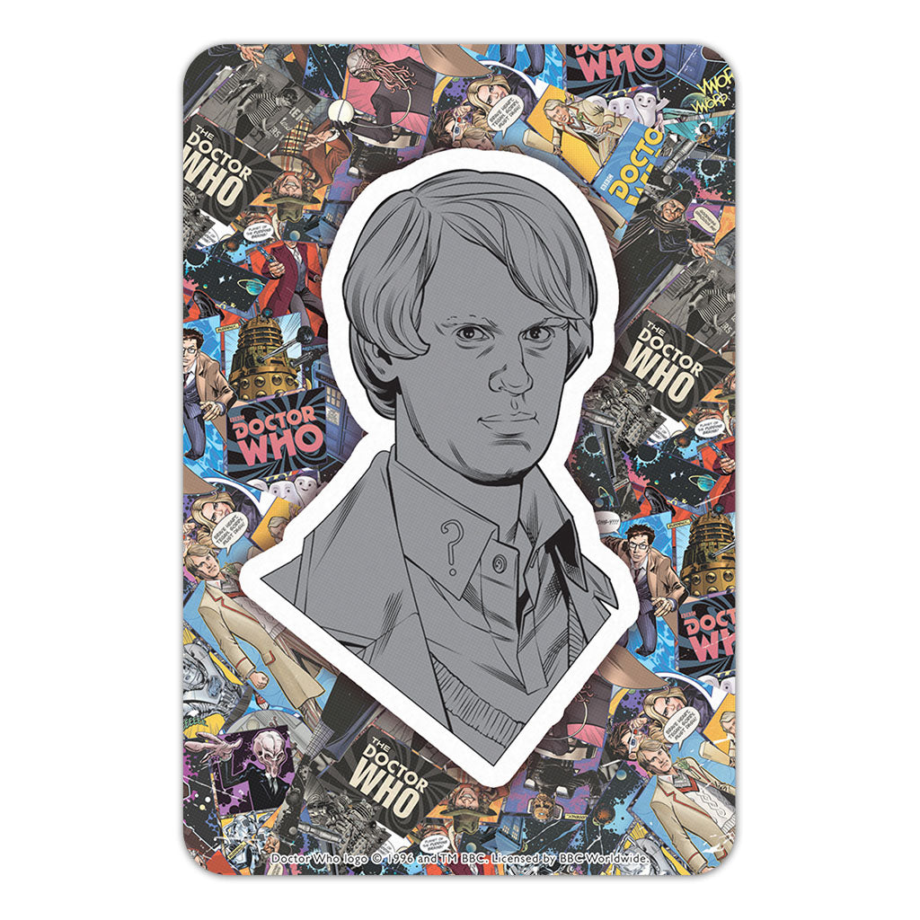 Fifth Doctor Comic Door Plaque