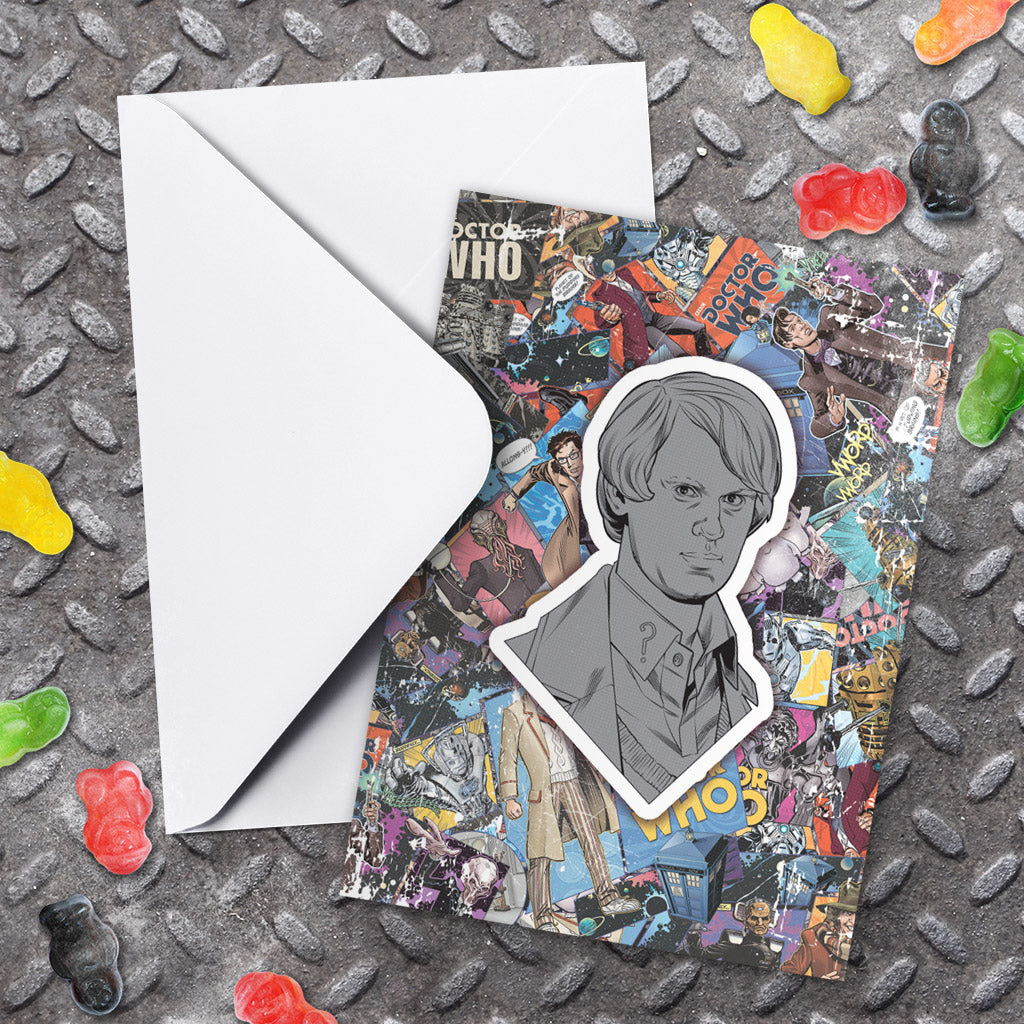 Fifth Doctor Comic Greeting Card (Lifestyle)