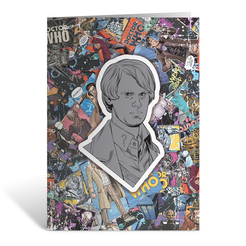 Fifth Doctor Comic Greeting Card