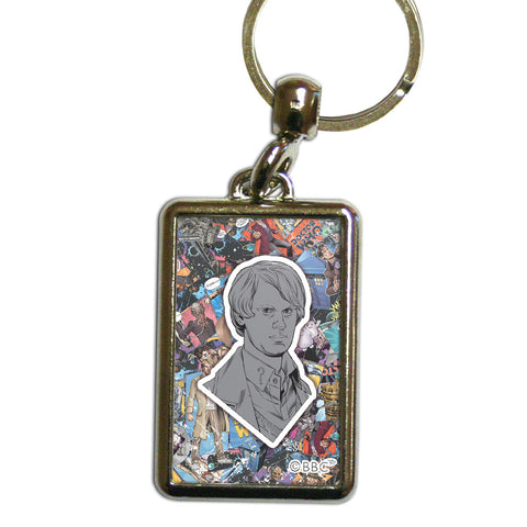 Fifth Doctor Comic Metal Keyring