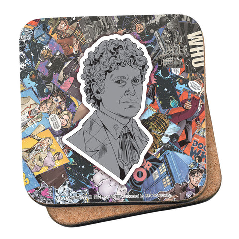 Sixth Doctor Comic Coaster