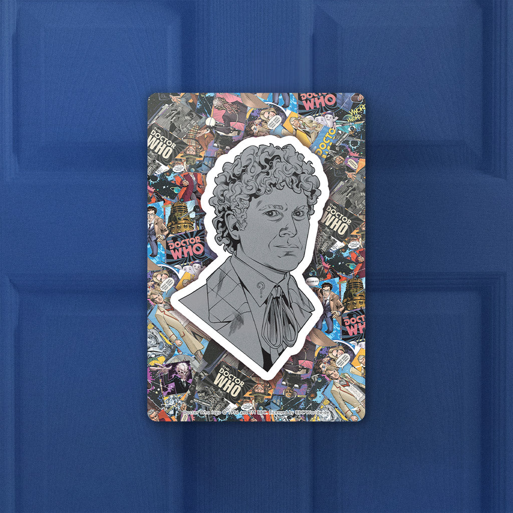 Sixth Doctor Comic Door Plaque (Lifestyle)