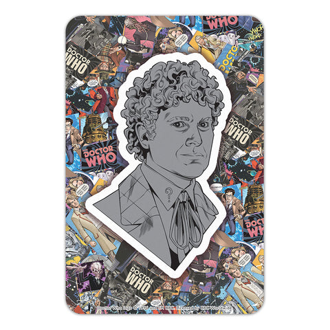 Sixth Doctor Comic Door Plaque