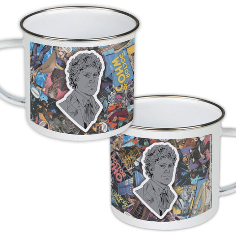 Sixth Doctor Comic Enamel Mug