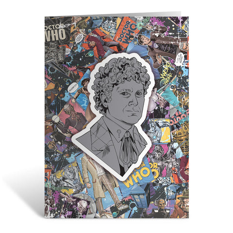 Sixth Doctor Comic Greeting Card