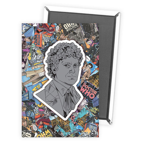 Sixth Doctor Comic Magnet