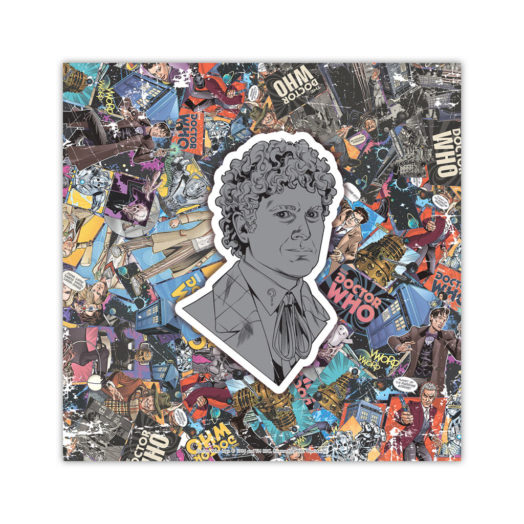 Sixth Doctor Comic Square Art Print