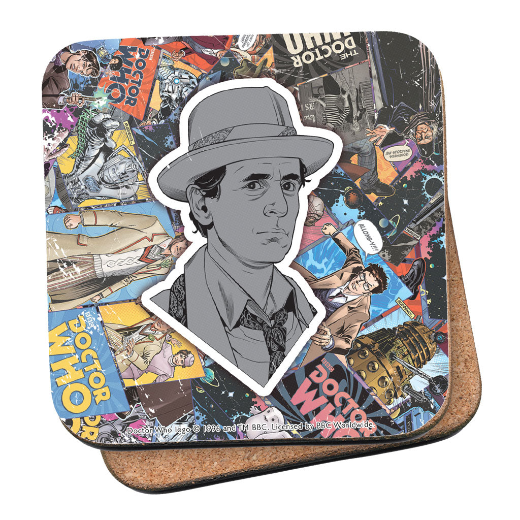 Seventh Doctor Comic Coaster