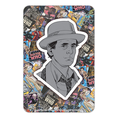 Seventh Doctor Comic Door Plaque