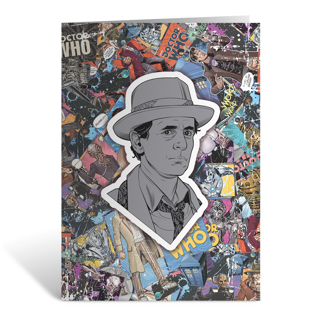 Seventh Doctor Comic Greeting Card