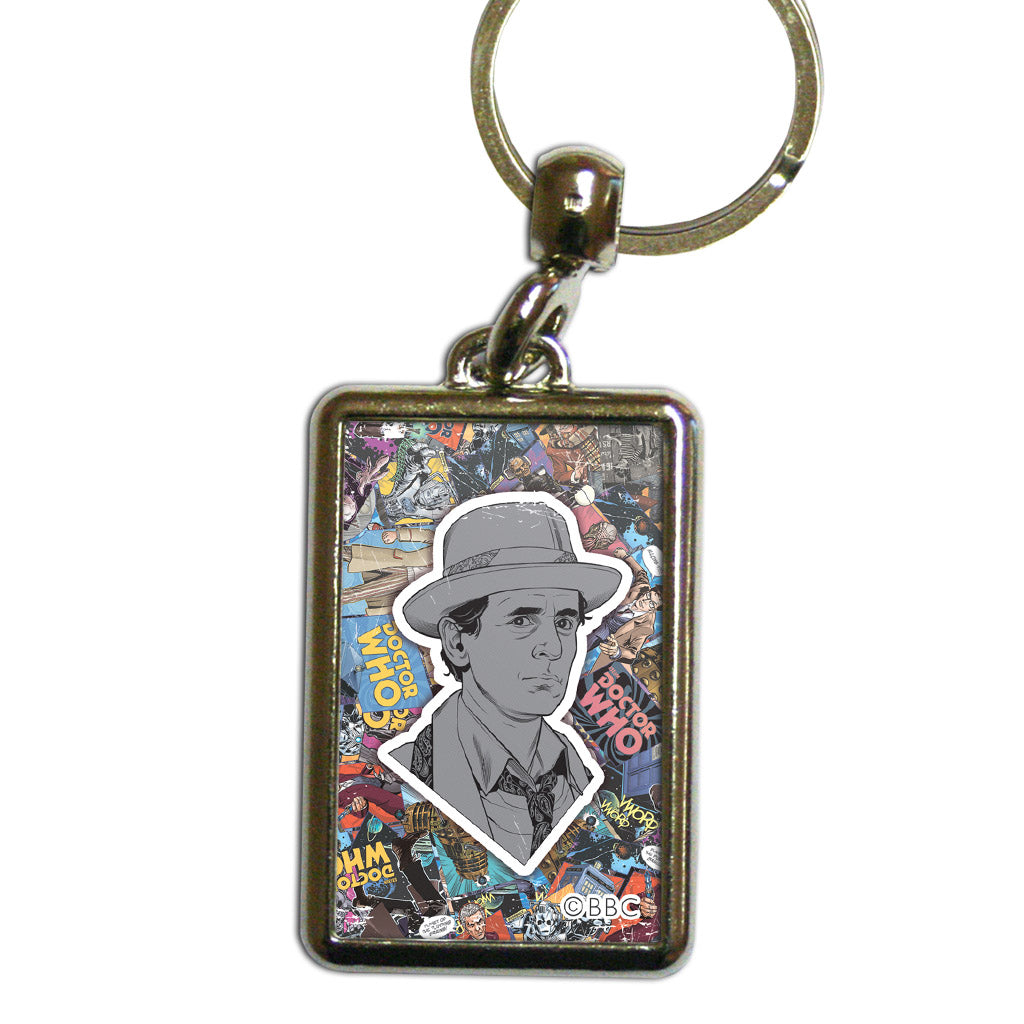 Seventh Doctor Comic Metal Keyring