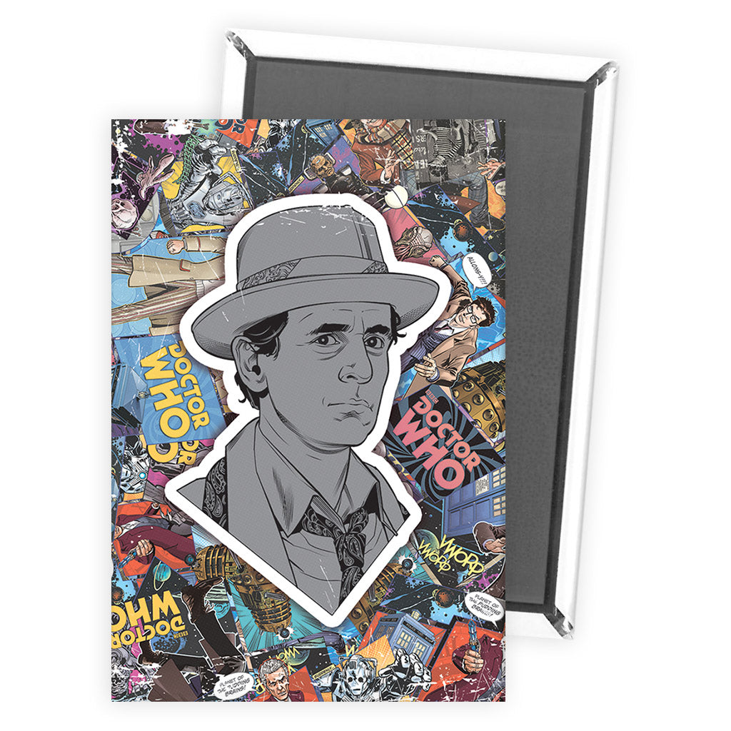 Seventh Doctor Comic Magnet