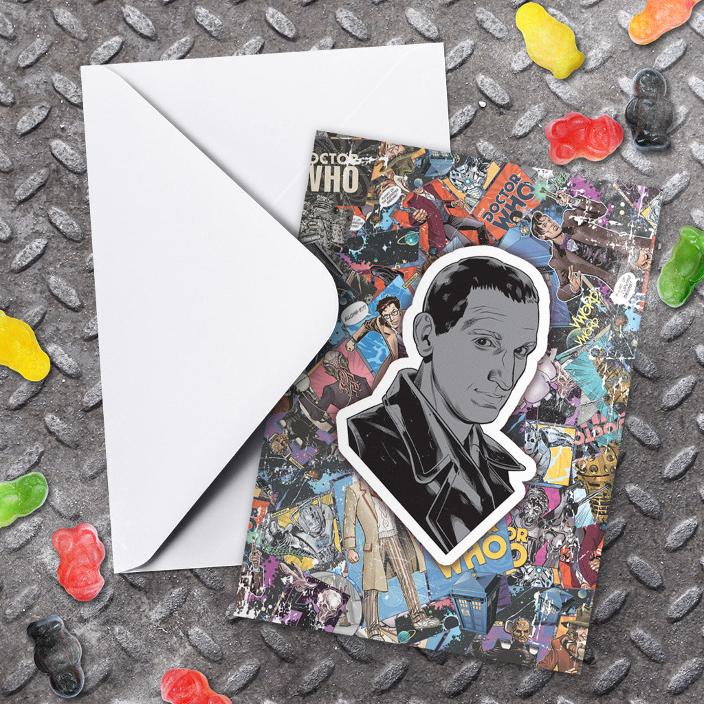 Ninth Doctor Comic Greeting Card (Lifestyle)