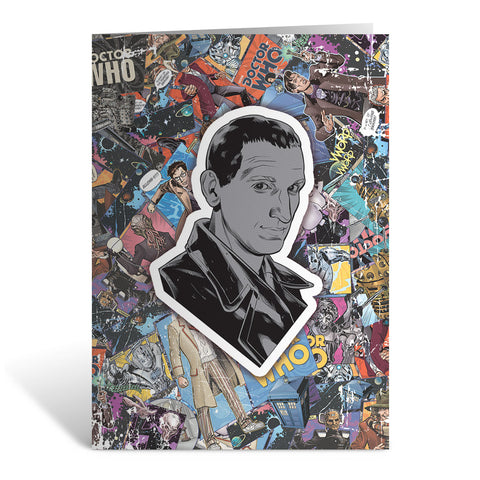 Ninth Doctor Comic Greeting Card