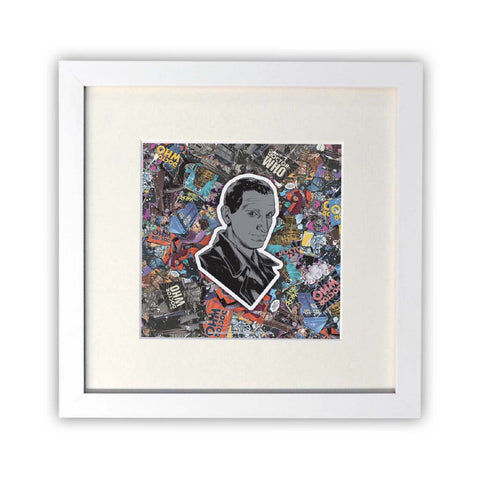 Ninth Doctor Comic Square White Framed Print