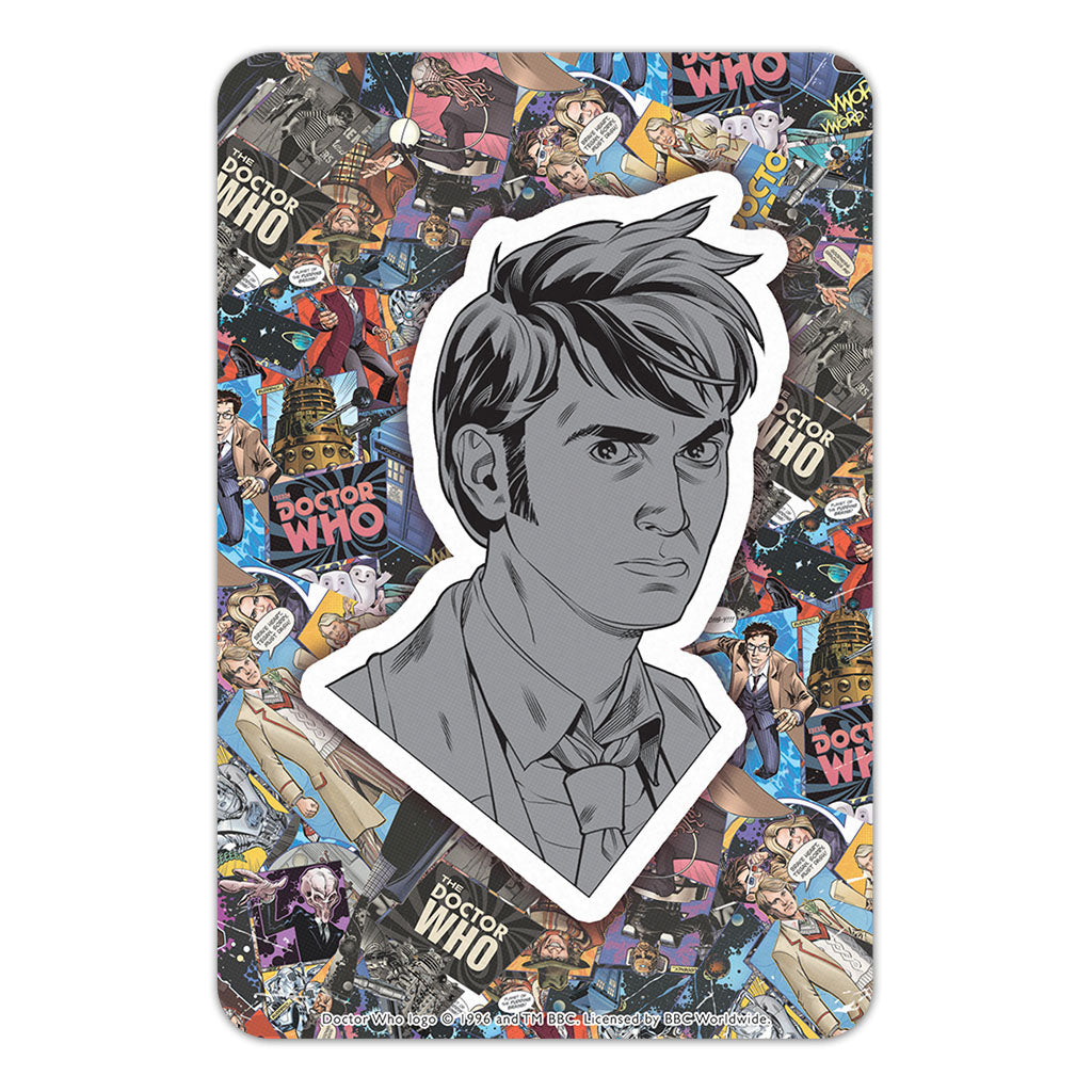 Tenth Doctor Comic Door Plaque