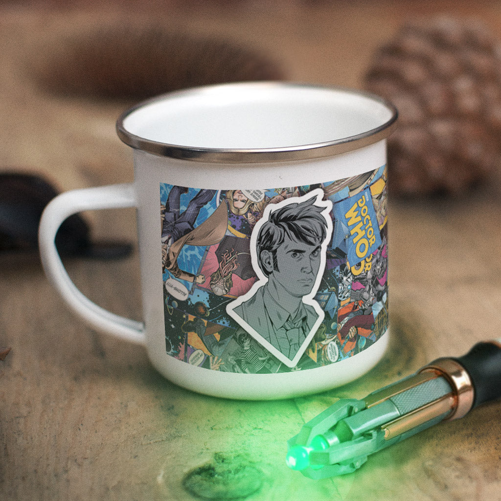 Tenth Doctor Comic Enamel Mug (Lifestyle)