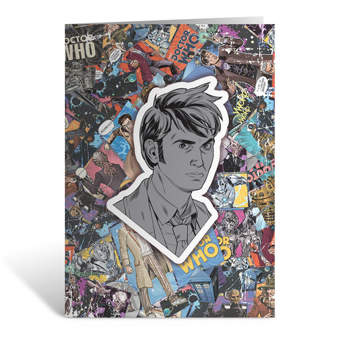 Tenth Doctor Comic Greeting Card