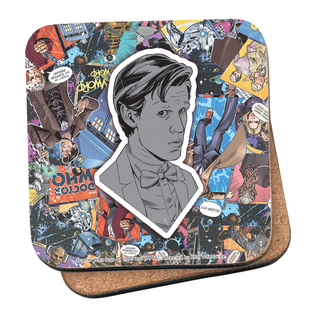 Eleventh Doctor Comic Coaster