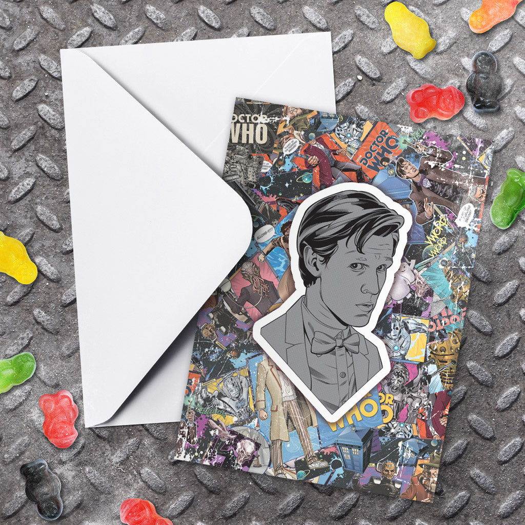 Eleventh Doctor Comic Greeting Card (Lifestyle)