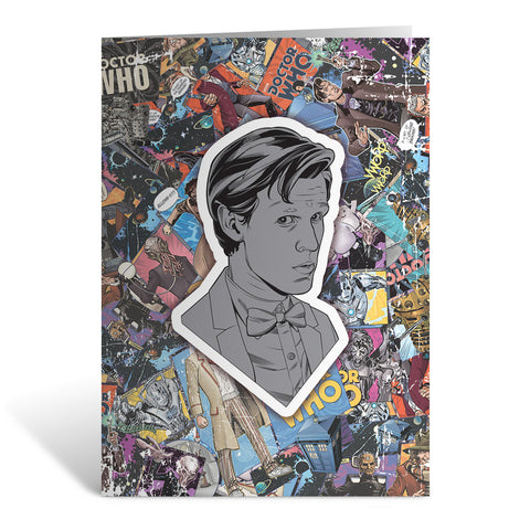 Eleventh Doctor Comic Greeting Card