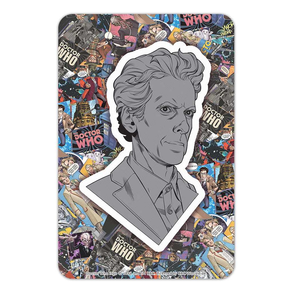Twelfth Doctor Comic Door Plaque