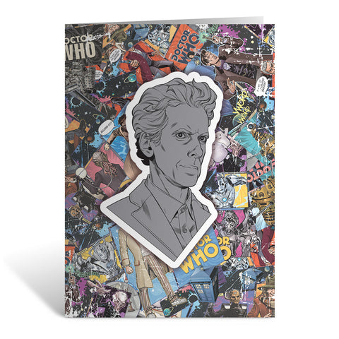 Twelfth Doctor Comic Greeting Card