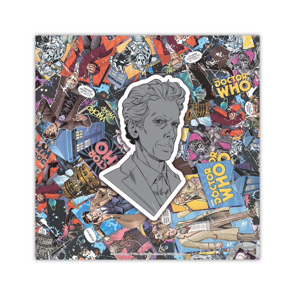 Twelfth Doctor Comic Square Art Print