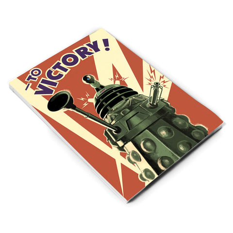 Dalek 'TO VICTORY!' A5 Notepad