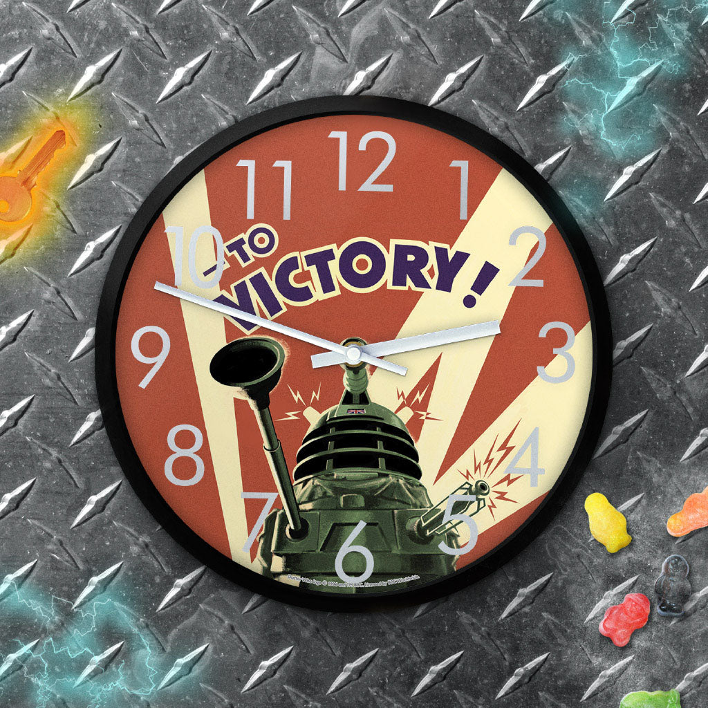 Dalek 'TO VICTORY!' Clock