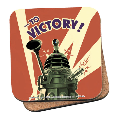 Dalek 'TO VICTORY!' Coaster
