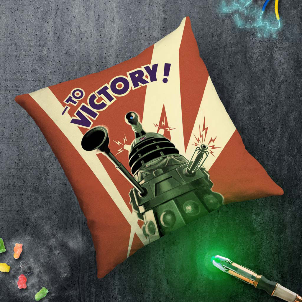 Dalek 'TO VICTORY!' Cushion (Lifestyle)