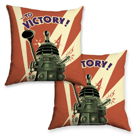 Dalek 'TO VICTORY!' Cushion