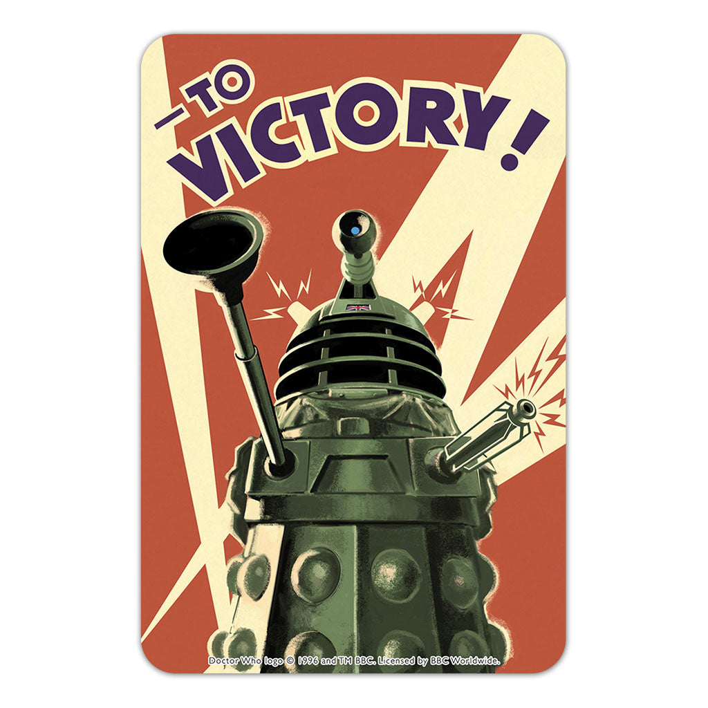 Dalek 'TO VICTORY!' Door Plaque