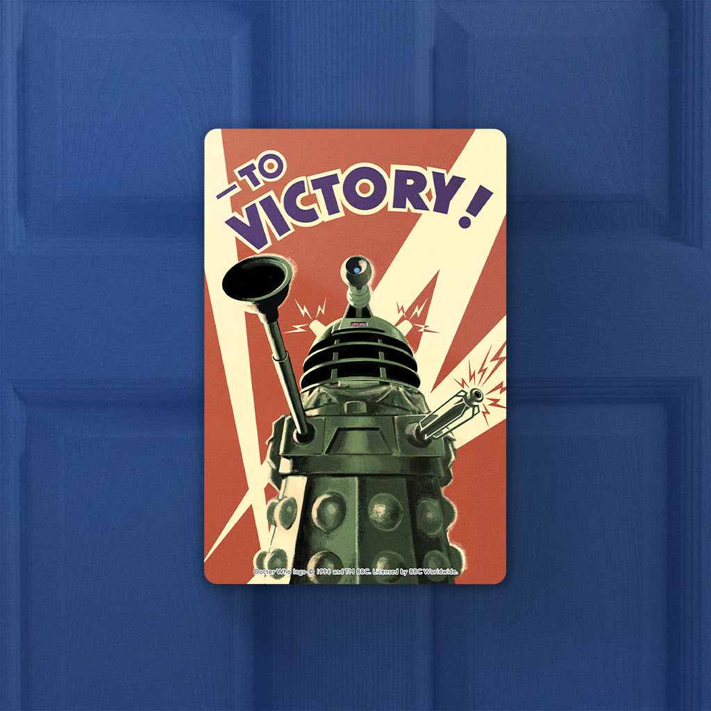 Dalek 'TO VICTORY!' Door Plaque (Lifestyle)