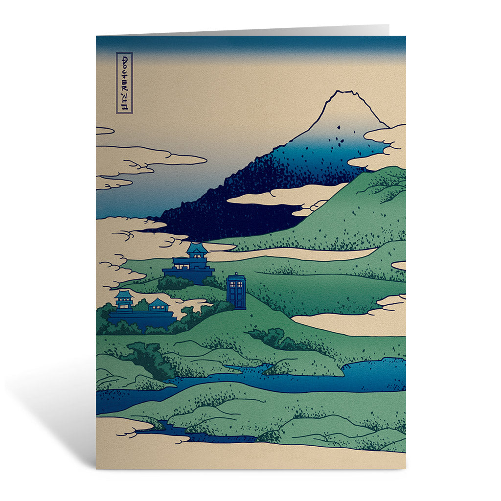 Doctor Who - Hokusai Greeting Card