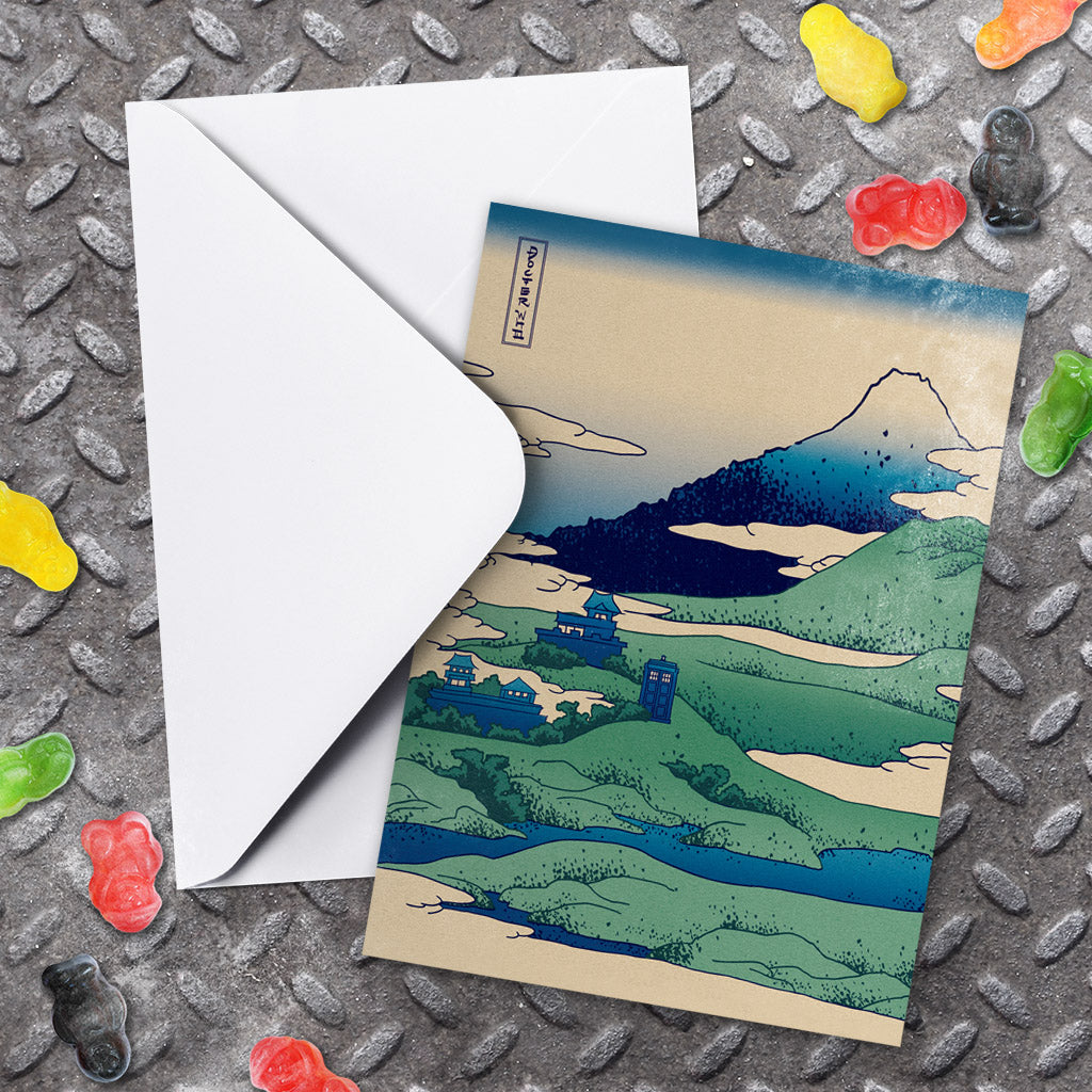 Doctor Who - Hokusai Greeting Card (Lifestyle)