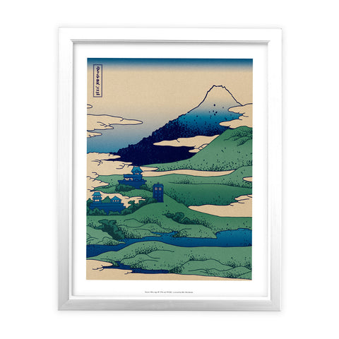 Doctor Who - Hokusai White Framed Art Print
