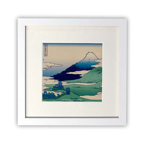 Doctor Who - Hokusai Square White Framed Print