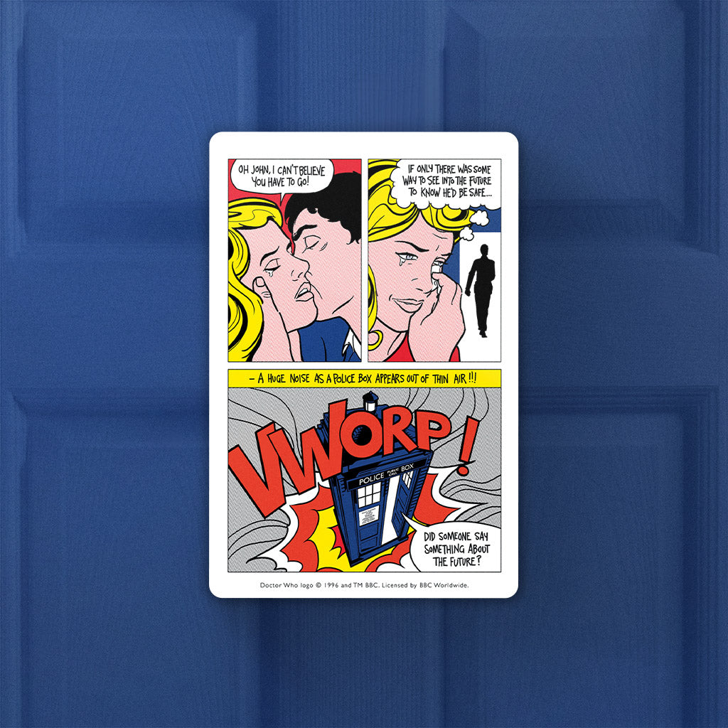 Tardis - Lichtenstein Door Plaque (Lifestyle)