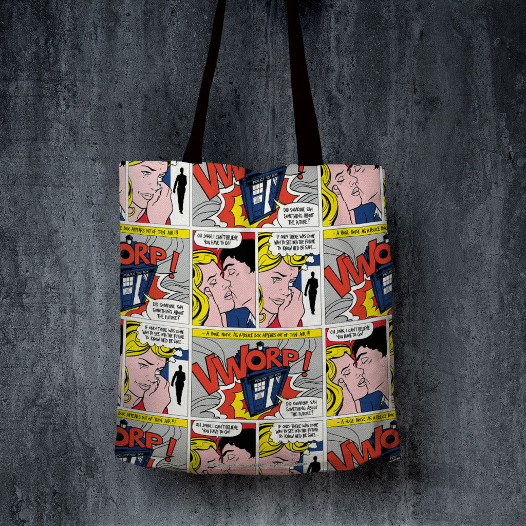 Tardis - Lichtenstein Edge to Edge Tote (Lifestyle)