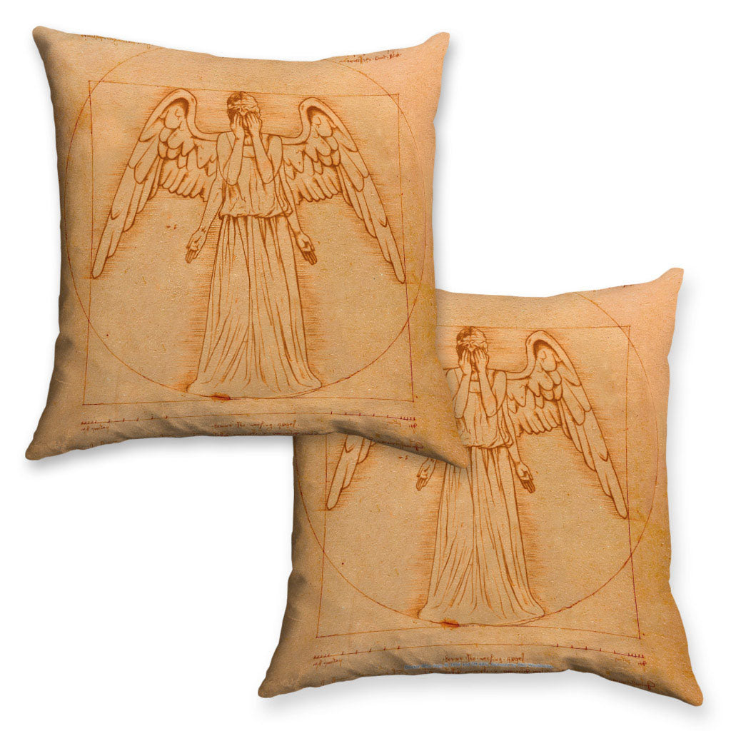 Weeping Angel - Da Vinci Cushion