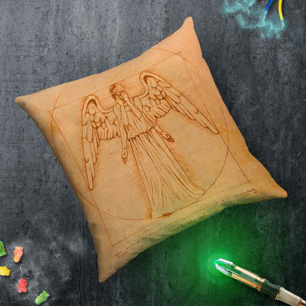 Weeping Angel - Da Vinci Cushion (Lifestyle)