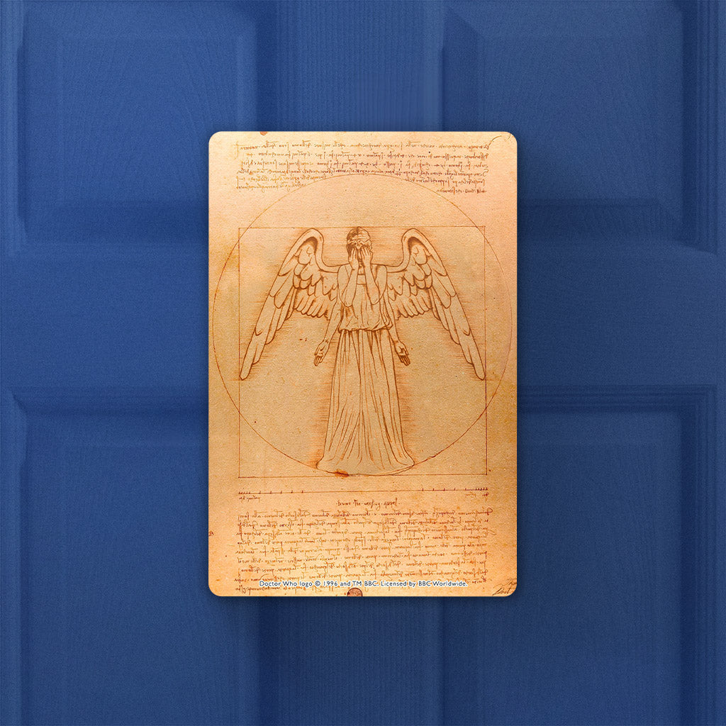 Weeping Angel - Da Vinci Door Plaque (Lifestyle)