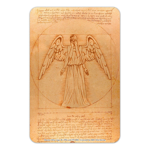 Weeping Angel - Da Vinci Door Plaque